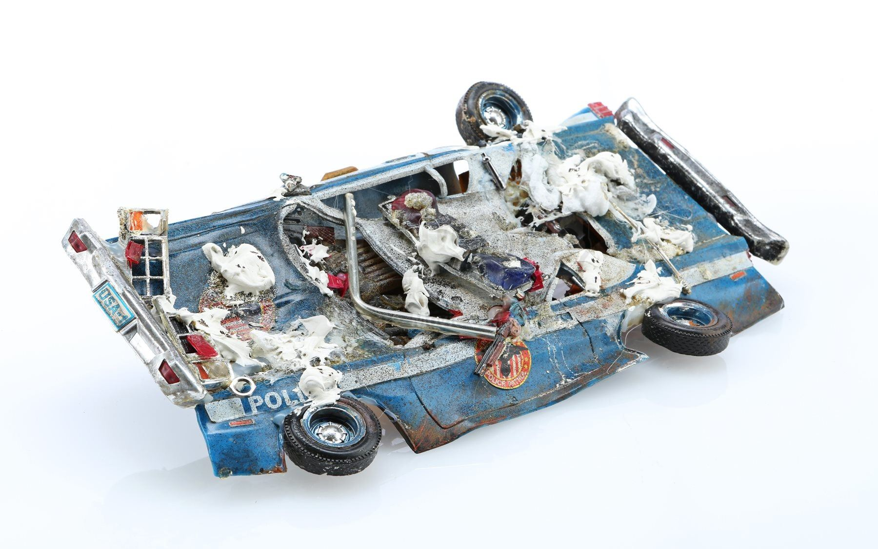 GHOSTBUSTERS (1984) - Marshmellow-Covered Crushed Police Car Model Miniature