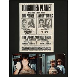 STAR WARS: THE EMPIRE STRIKES BACK (1980) - Mark Hamill Autographed Vintage Forbidden Planet Flyer