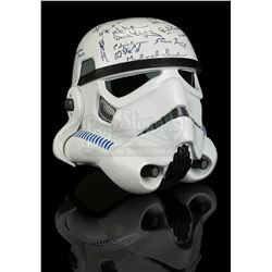 STAR WARS TRILOGY (1977-83) - Cast and Crew Autographed Stormtrooper Helmet