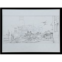 STAR WARS: THE COMPLETE SAGA -  Ralph McQuarrie Hand-Drawn Illustration - Bespin Floating City Ruins
