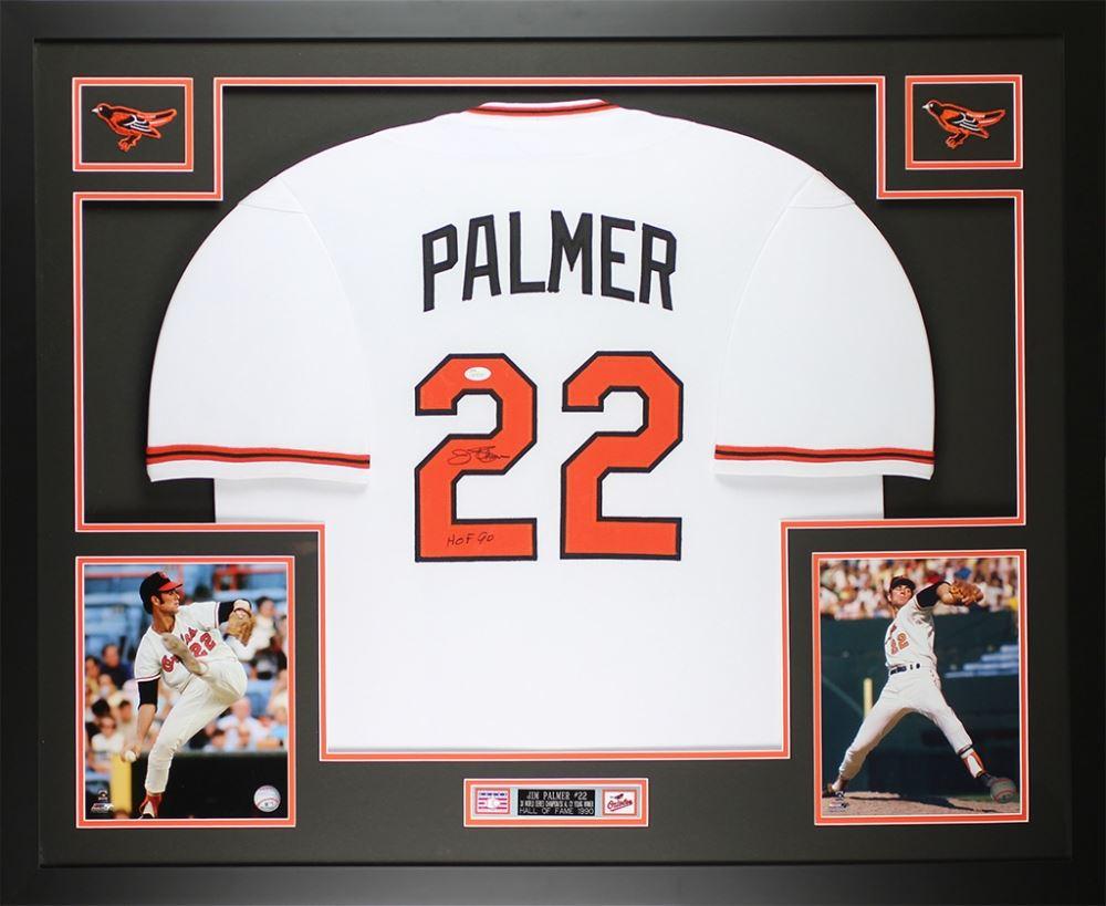 1200af3e4 Image 1   Jim Palmer Signed Orioles 35x43 Custom Framed Jersey Inscribed