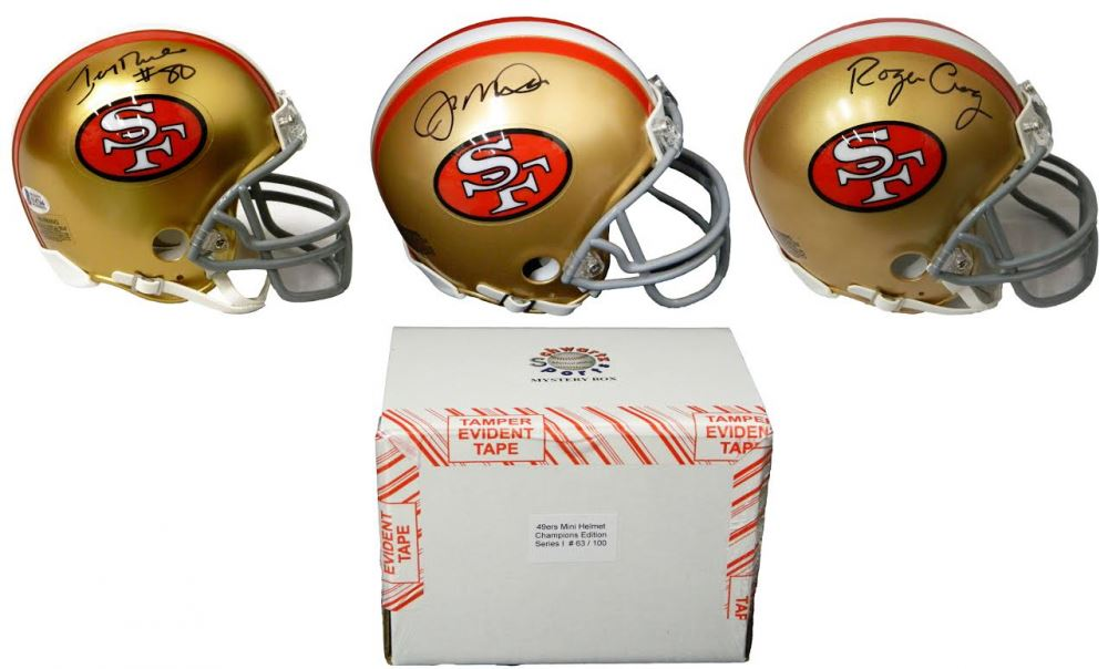 bf50f03d5 Image 1   San Francisco 49ers Signed Mystery Box Mini Helmet – World  Champions