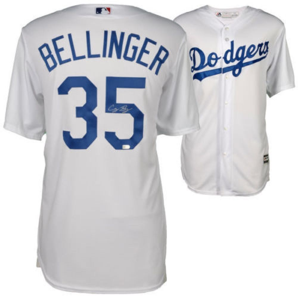 new concept e6293 8b349 Cody Bellinger Signed Dodgers Majestic Jersey (MLB ...