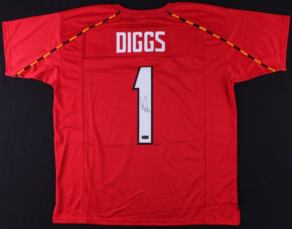 finest selection e7687 164d4 Stefon Diggs Signed Maryland Terrapins Jersey (Radtke COA)
