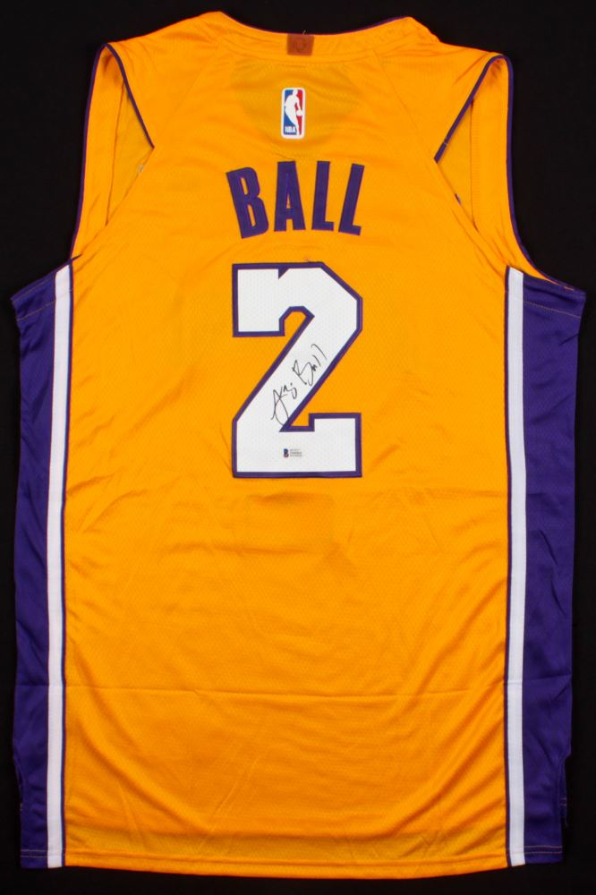 low priced f2365 2670a Lonzo Ball Signed Lakers Jersey (Beckett COA)