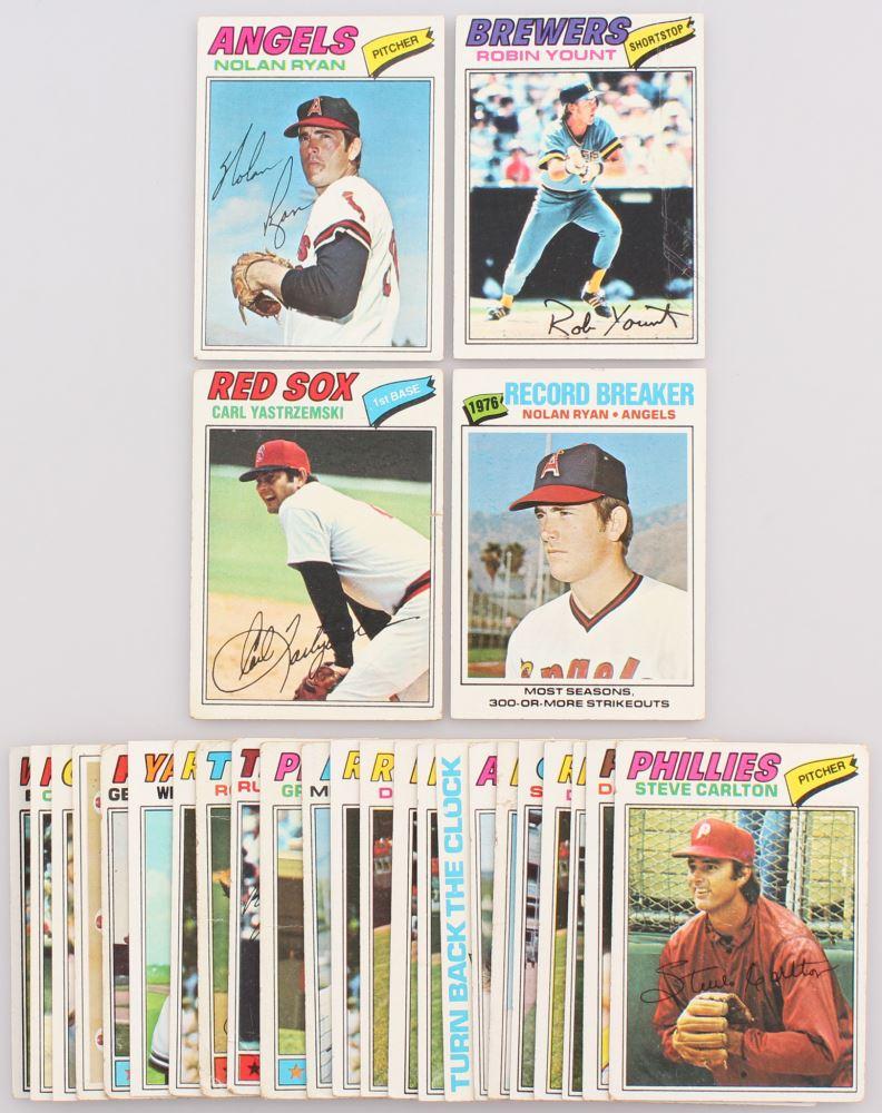 Lot Of 27 1977 Topps Baseball Cards Including 650 Nolan Ryan