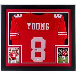 cd542d45701 Steve Young Signed 49ers 31.5x35.5 Custom Framed Jersey (JSA COA)