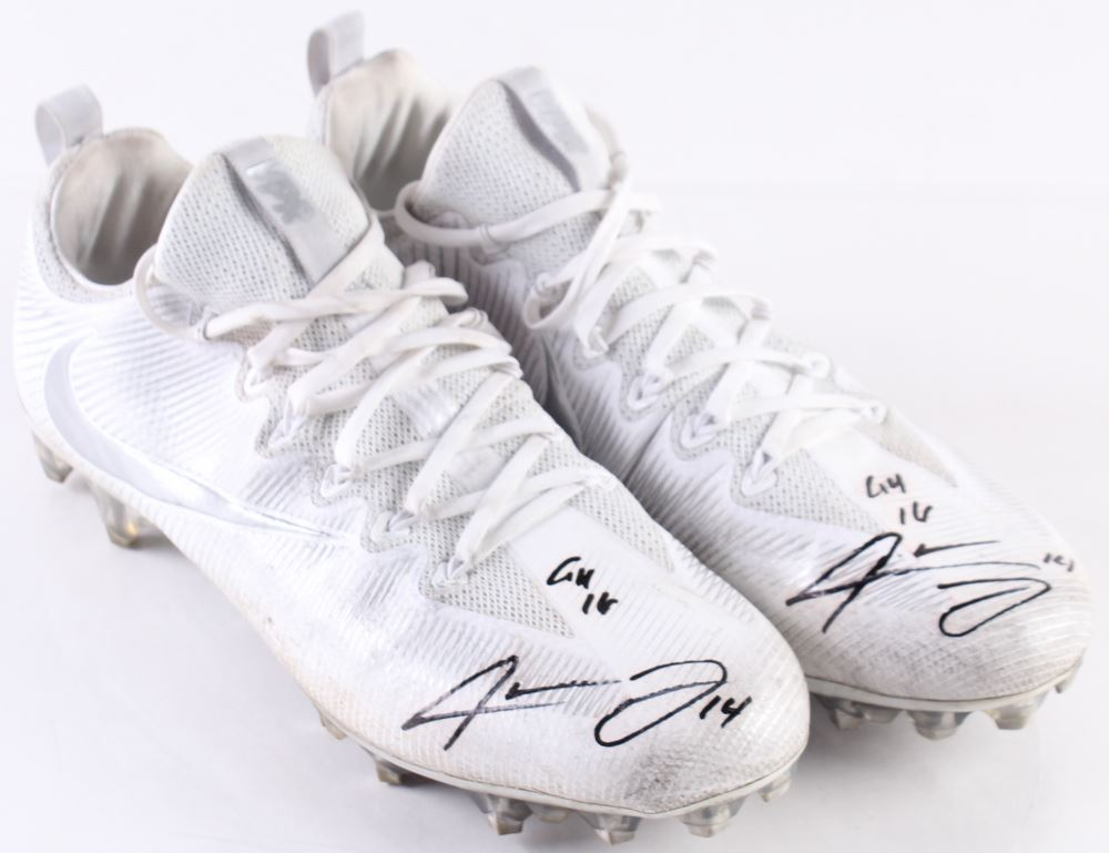 d85db06dceb Image 1   Jarvis Landry Signed Pair of Game-Used Nike Football Cleats  Inscribed
