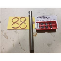 """New Mitsubishi Indexable End Mill 3/4"""" with Inserts XPGT 13T3 PDFR"""