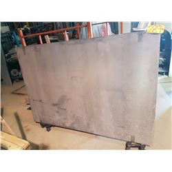"Aluminum Plate 72"" x 48""+ (around 1/2"")"