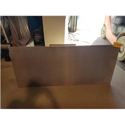 "Aluminum Plate 62""1/2 x 28"" (around 3/16"")"