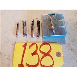 """NC Tap & Drill Set Tap (6-32 - 8-32 - 10-24 - 12-24 - 1/4"""""""
