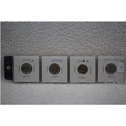 Canada Ten Cent Coins (4)