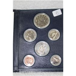Canada Coin Set in Blue, Hard Cover Folder