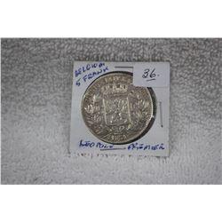 Belguim Five Francs 'Leopold Premier'