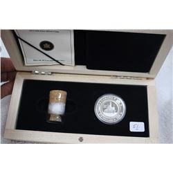 Canada Twenty Dollar Silver Coin - In a Wooden Case