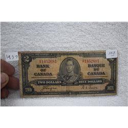 Canada Two Dollar Bill