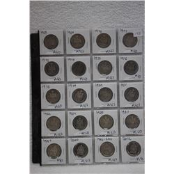 Canada Fifty Cent Coins (20)