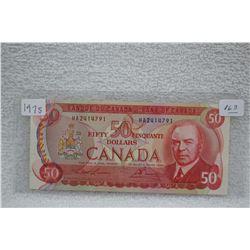Canada Fifty Dollar Bill