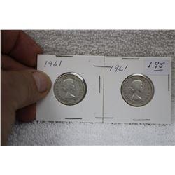 Canada Twenty-five Cent Coins (2)