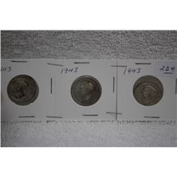 Canada Twenty-five Cent Coins (3)
