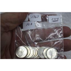 Canada Ten Cent Coins (18)