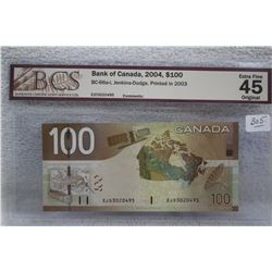 Canada One Hundred Dollar Bill
