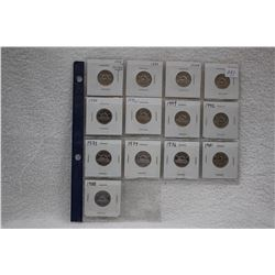 Canada Five Cent Coins (13)