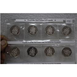 Canada Half Dollar Coins (4)