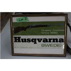 Sako Framed Ad, Husqvarna Poster Ad