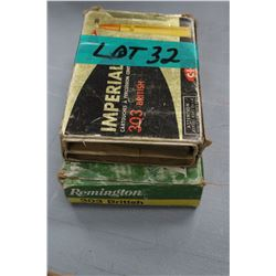 Box of 303 Imperial British (Looks like factory) & Box of 11 - 303 British Reloads