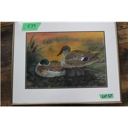 """The Mallards"" Water Colour by Gladys Lim of Vancouver"