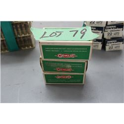 3 Boxes of Cevelot 22 Long Rifle