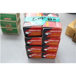8 Boxes of 40 Rnds 22 Long Rifle, High Velocity