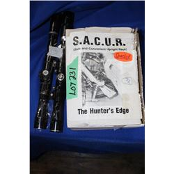Hunters Edge Gun Rack & 2 Scopes