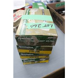 4 Boxes of 270 Winchester 140 gr. Boat Tail Factory Ammo