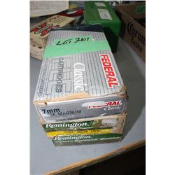 3 Boxes of 7mm Remington Magnum 150 gr. Factory Ammo