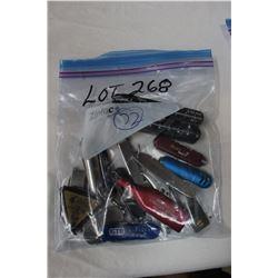Bag of 15 Pocket Knives