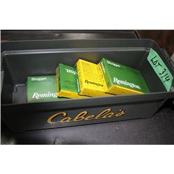 "2 Boxes of 12 ga. Remington Slugger 3"" Mag & 2 Boxes of 29 ga. Slugger 2 3/4"" - In a Cabelas Ammo Ca"
