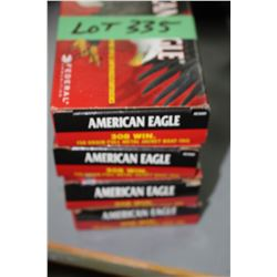 4 Boxes of American Eagle 308 Win 150 gr. Full Metal Jacket Boat Tail Factory