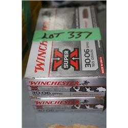 2 Boxes of Winchester 30.06 SPRG 165 gr. Factory Ammo