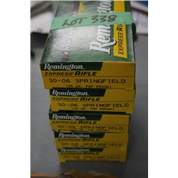 5 Boxes of Remington Express 30.06 SPRG 125 gr. Factory Ammo