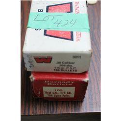 Full Box of 7mm, 175 gr Bullets & 60 Rnds of 30 cal., 110 gr. Bullets