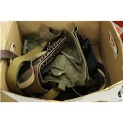Box of Holster Belts, etc.