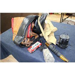 2 Bird Calls; an Air Pump; Small Side Pack & 3 Gun Cases - In a Box