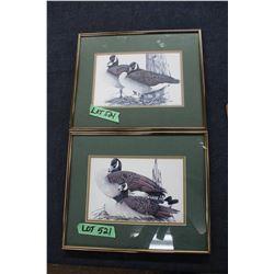 2 Framed Goose Prints