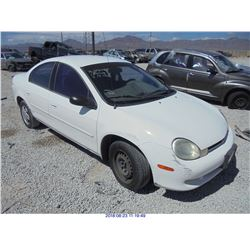 2000 - DODGE NEON // BONDED TITLE