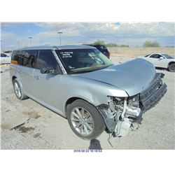 2013 - FORD FLEX // SALVAGE TITLE // DAMAGED TITLE