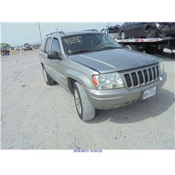 2002 - JEEP GRAND CHEROKEE // BONDED TITLE