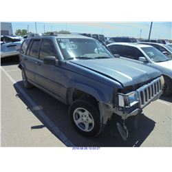 1998 - JEEP GRAND CHEROKEE // SALVAGE TITLE // EXPORT